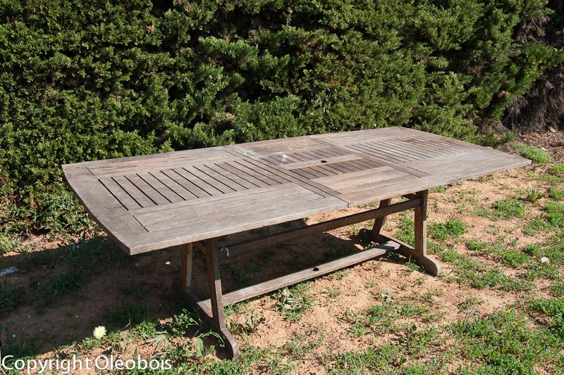 Table De Jardin Avec Rallonge Bois : Rénover et nettoyer votre mobilier de jardin  Blog protection bois